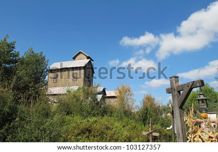 houses of the old west - stock photo