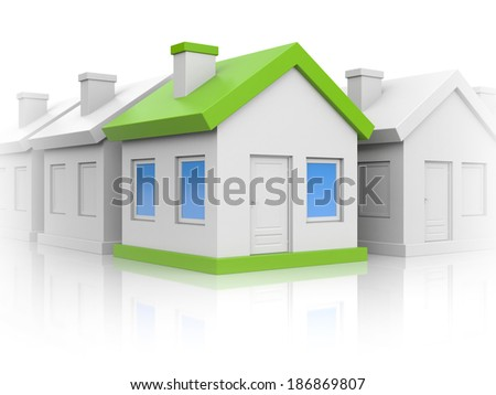 Houses. Right choice - stock photo