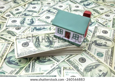 housing and tickets of one hundred dollars - stock photo