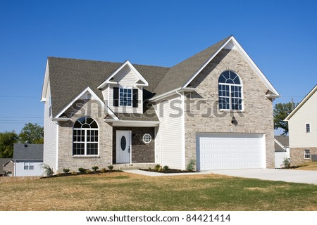 Housing boom is still going on in some areas single family homes are selling fast - stock photo