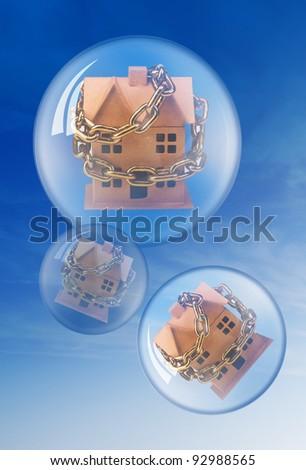 Housing Bubble. - stock photo