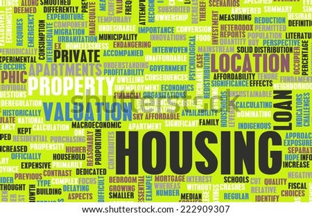 Housing Market and Planning to Purchase as Art - stock photo