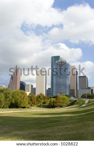 Houston Downtown/Park 2 - stock photo