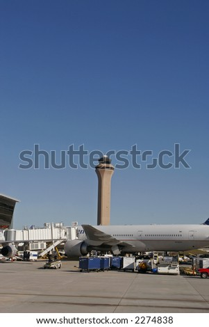 Houston International airport USA - stock photo