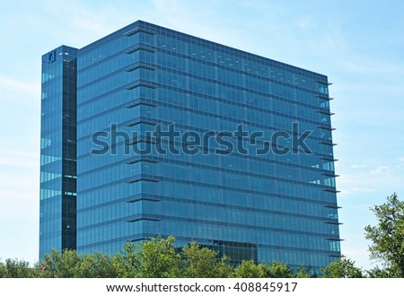 HOUSTON, TEXAS - APRIL 06, 2016: Skyscrapers at Houston ,Texas - stock photo