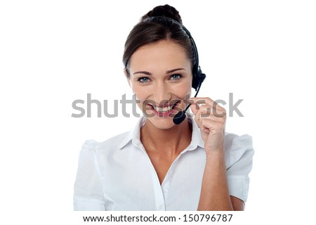 How can I help you? - Customer care executive - stock photo