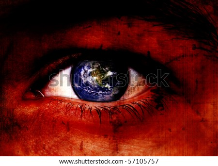 How I See The World Conceptual Background - stock photo