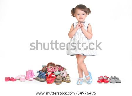 how many shoes needs child? - stock photo