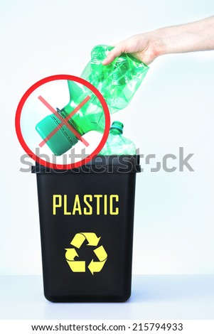 How not to dispose of plastic bottles - stock photo