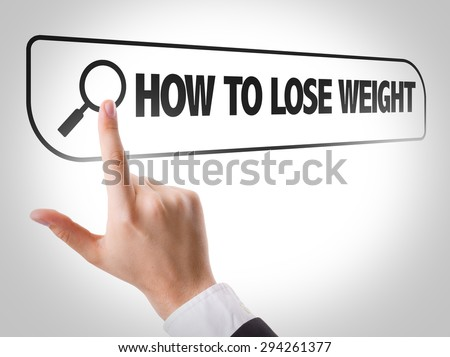 How to Lose Weight written in search bar on virtual screen - stock photo