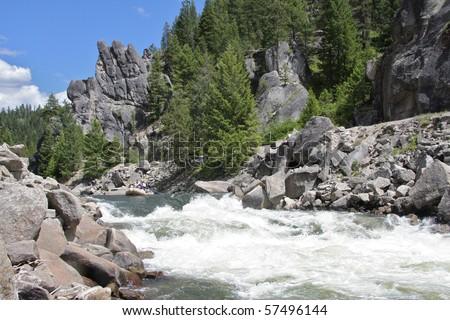 Howard's Plunge, Payette River, Idaho - stock photo