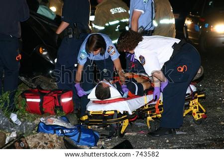 Howe Ave Motor Vehicle Accident (Shelton, CT) - stock photo