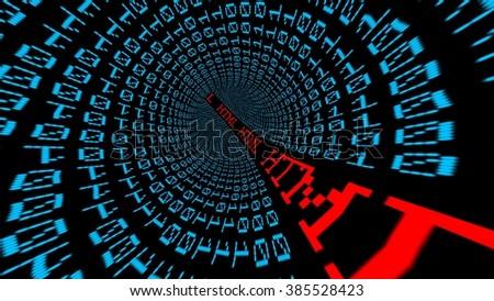 Html data tunnel - stock photo
