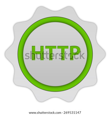http circular icon on white background - stock photo
