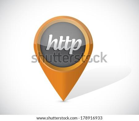 http pointer icon illustration design over a white background - stock photo