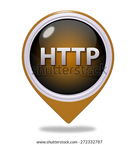 http pointer icon on white background - stock photo