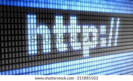 Http sign - stock photo