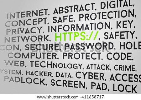 https Tag Cloud - stock photo