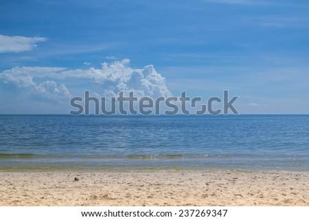 Hua-Hin Blue sea, Thailand - stock photo