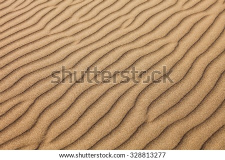Huacachina desert dunes in Ica Region, Peru - stock photo