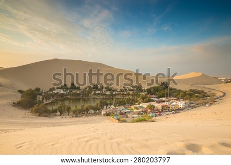 Huacachina, Peru - stock photo