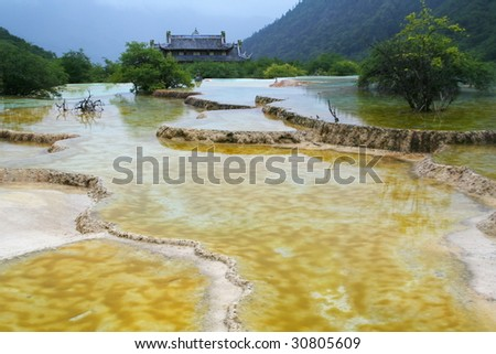 Huanglong National Geopark - stock photo