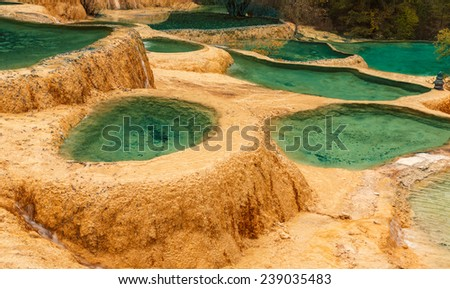 Huanglong national park. China - stock photo