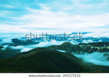 Huanglong National Park landscape   - stock photo