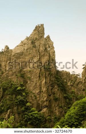 huangshan - stock photo