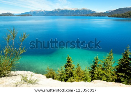 Huapi Lake, Villa La Angostura, close to Bariloche, Argentina, South America - stock photo