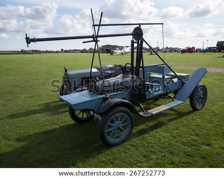Hucks starter aeroplane starting vehicle at the Shuttleworth Collection,Bedfordshire,UK. taken 26/09/2012 - stock photo