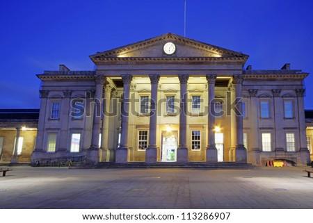 Huddersfield Train Station, Kirklees, West Yorkshire, UK - stock photo