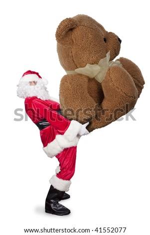 huge christmas gift - stock photo