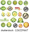 Huge collection gluten free seals. Various colorful designs, can be used as stamps, seals, badges, for packaging etc. - stock photo