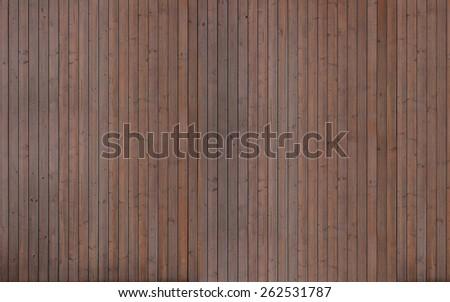 Huge dark wood planks texture - stock photo