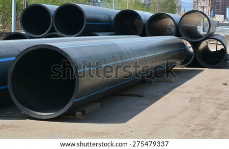 Huge pipes - stock photo