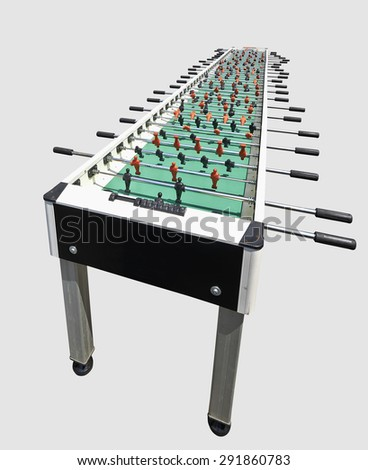 huge table foosball isolated, concept for think bigger - stock photo