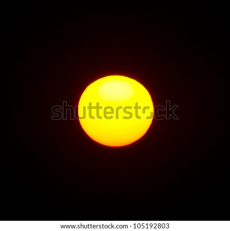 huge yellow fireball - stock photo