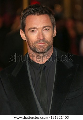 Hugh Jackman arriving at the World Premiere of 'Les Miserables' held at the Odeon & Empire Leicester Square, London. 05/12/2012 Picture by: Henry Harris - stock photo