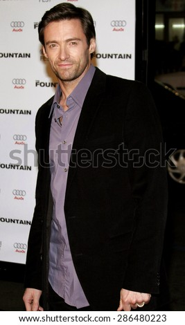 Hugh Jackman at the Los Angeles premiere of 'The Fountain' held at the Grauman's Chinese Theatre in Hollywood on November 11, 2006.  - stock photo