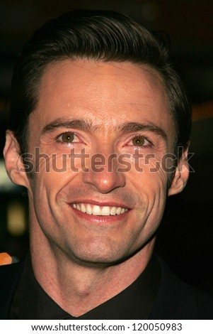"Hugh Jackman at the World Premiere of ""The Prestige"". El Capitan Theater, Hollywood, CA. 10-17-06 - stock photo"