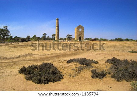 Hughes Copper Mine - stock photo