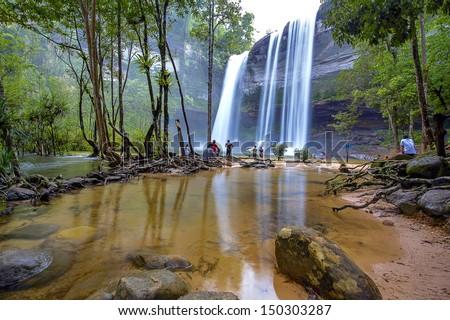 Hui Lung Waterfall - stock photo