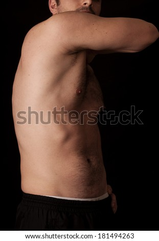 Human anatomy series: serratus anterior - stock photo