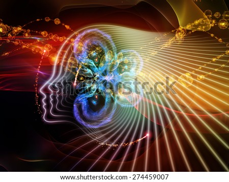 Human Curve series. Background design of human lines and abstract graphic elements on the subject of mind, human spirit, poetry, inspiration and philosophy - stock photo