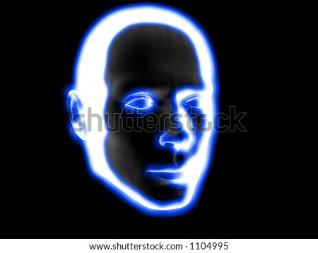 human face - stock photo