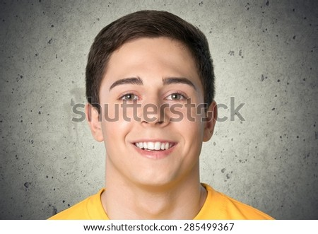 Human Face, Teenager, Male. - stock photo