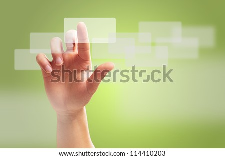 Human Hand Gesture, Background - stock photo
