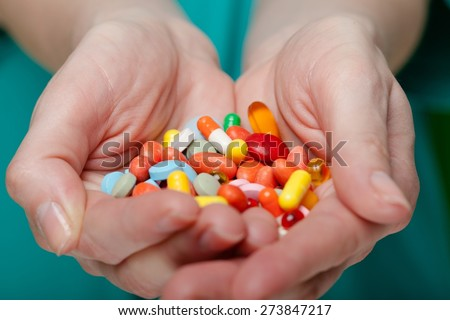 Human Hand, Palm, Giving. - stock photo