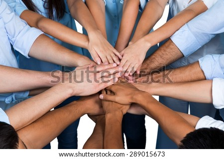 Human Hand, Teamwork, People. - stock photo